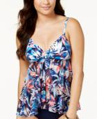Profile By Gottex Tahiti Flyaway Tankini Top Women's Swimsuit