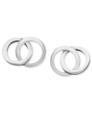 Giani Bernini Sterling Silver Earrings, Double Circle Stud Earrings