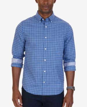 Nautica Men's Slim-fit Plaid Wrinkle-resistant Shirt