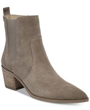 Franco Sarto Sienne Pointed-toe Block-heel Booties Women's Shoes