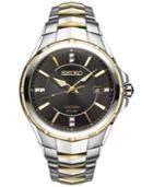 Seiko Men's Solar Coutura Diamond Accent Two-tone Stainless Steel Bracelet Watch 42mm Sne444