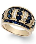 Sapphire (2-9/10 Ct. T.w.) And Diamond (1/3 Ct. T.w.) Band In 14k Gold