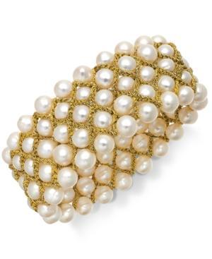 Cultured Freshwater Pearl Five-row Stretch Bracelet (8mm)