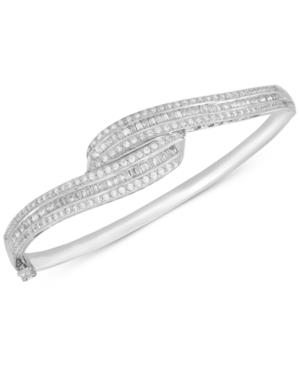 Wrapped In Love Diamond Swirl Bangle Bracelet (2 Ct. T.w.) In Sterling Silver, Created For Macy's