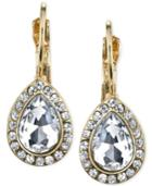 2028 Gold-tone Crystal Drop Earrings