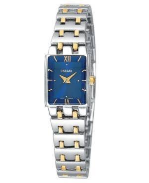 Pulsar Watch, Women's Two Tone Stainless Steel Bracelet Peg363