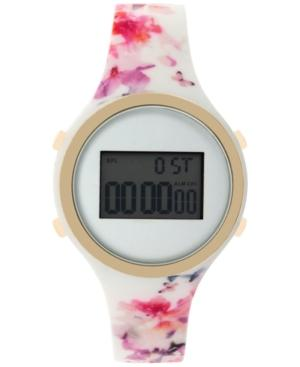 Inc International Concepts Women's Digital Multicolored Floral Silicone Strap Watch 38mm In017gfl, Only At Macy's