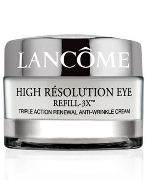 Lancome High Resolution Refill-3x Anti-wrinkle Eye Cream, 0.5 Oz