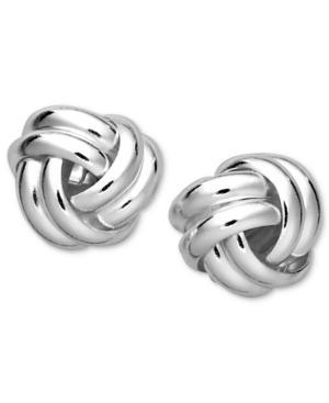 Giani Bernini Sterling Silver Earrings, Double Knot Stud