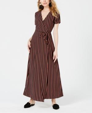 Sage The Label Striped Wrap Dress