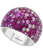 Splash By Effy Ruby (3-1/2 Ct. T.w.) & Pink Sapphire (2-5/8 Ct. T.w.) Ring In Sterling Silver