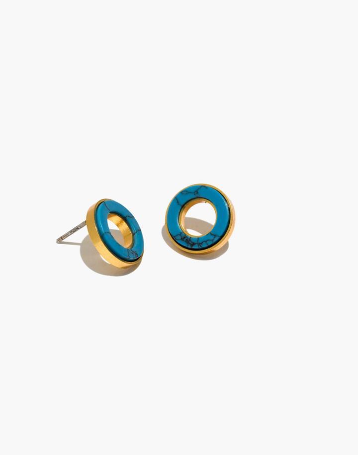 214733729 Madewell Desert Sunset Circle Stud Earrings | LookMazing