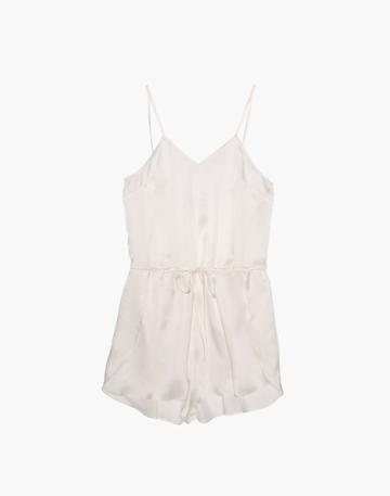 Madewell The Great Eros Silk Dia Teddy Romper