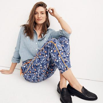 Madewell Karen Walker® Floral Fiagro Boat Pants