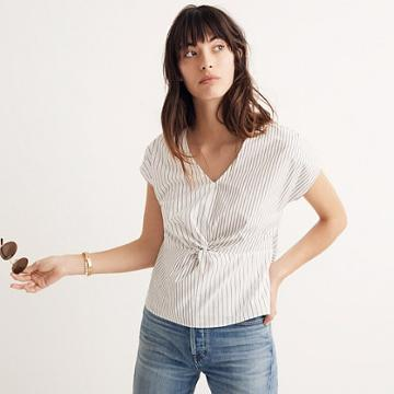 Madewell Striped Twist-front Top