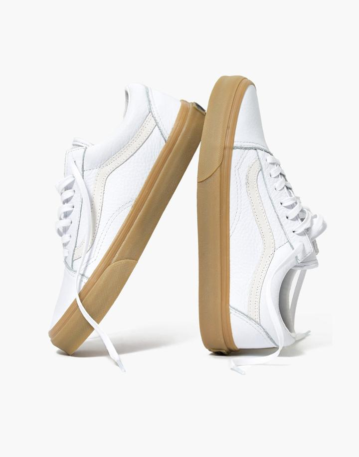 749f8abe82 Madewell Madewell X Vans Unisex Old Skool Lace-up Sneakers In Tumbled  Leather