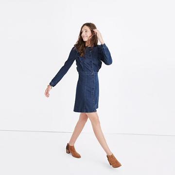 Madewell Denim Ruffle-front Dress