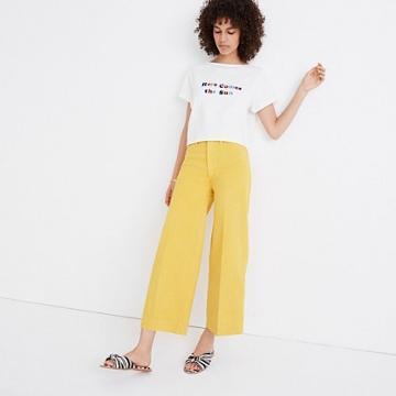 Madewell Emmett Wide-leg Crop Pants In Greek Gold