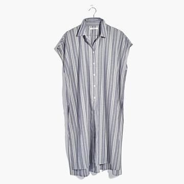 Madewell Side-slit Tunic Shirt In Stripe