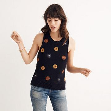 Madewell Embroidered Sweater Tank