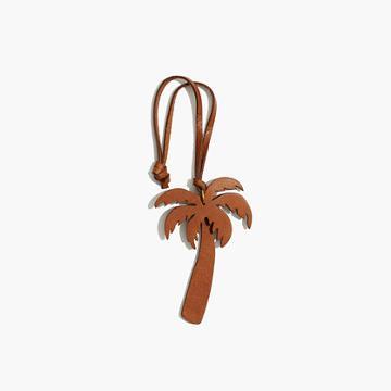 Madewell Leather Palm Tree Bag Tag