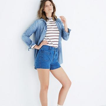 Madewell High-rise Denim Shorts: Patch Pocket Edition
