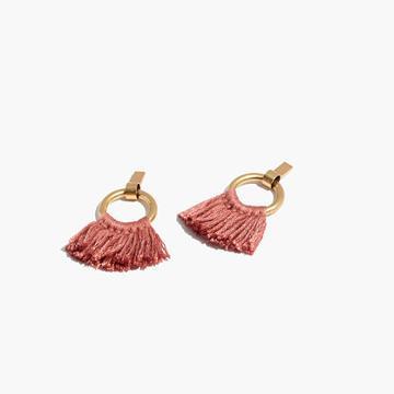 Madewell Tassel Hoop Earrings