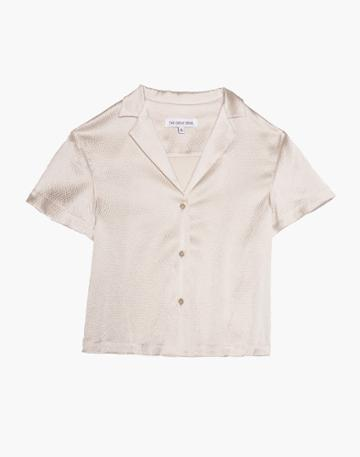 Madewell The Great Eros Silk Odessa Camp Shirt