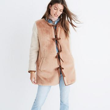 Madewell Colorblock Faux-mink Jacket