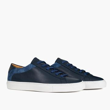 Madewell Koio Capri Vento Low-top Sneakers In Blue Leather
