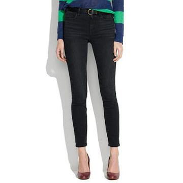 Madewell High Riser Skinny Skinny Ankle Jeans In Onyx Wash
