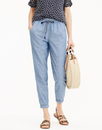 Madewell J.crew Point Sur Seaside Pants In Chambray