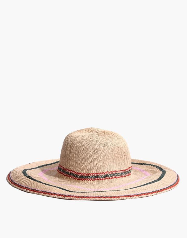 Madewell Madewell X Biltmore Tulum Striped Straw Hat