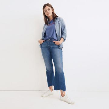 Madewell Cali Demi-boot Jeans: Destructed-hem Edition