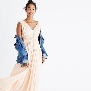 Madewell Magnolia Tie-back Maxi Dress