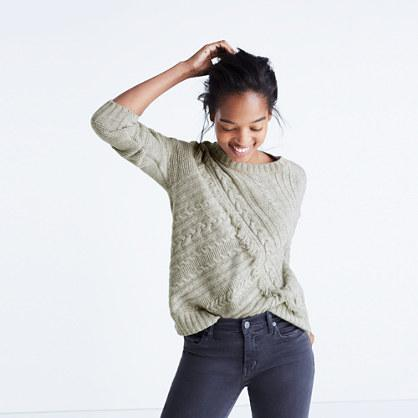 Madewell Cableknit Fringe Sweater