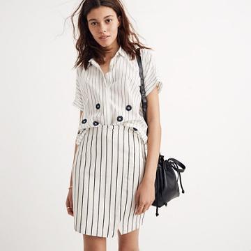 Madewell Wrap Mini Skirt In Stripe