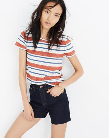Madewell High-rise Denim Boyshorts In Bailey Wash