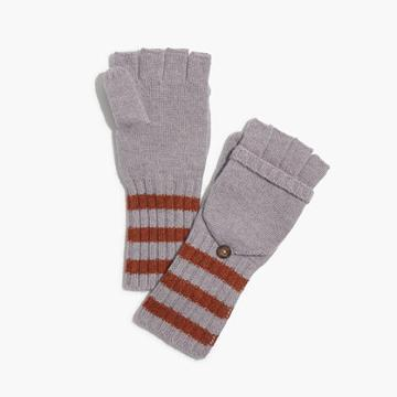 Madewell Striped Convertible Gloves