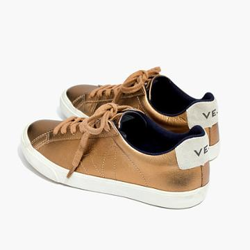 Madewell Veja™ Esplar Low Sneakers In Metallic Bronze