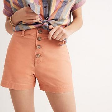Madewell Emmett Button-front Shorts