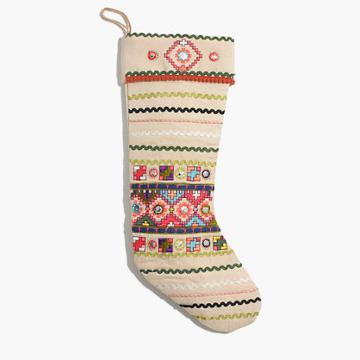 Madewell Cody Foster™ Embroidered Stocking