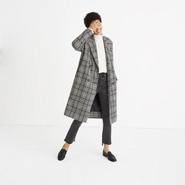 Madewell Plaid Goodwin Oversized Topcoat
