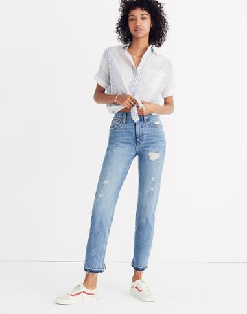 Madewell Classic Straight Jeans: Destructed Edition
