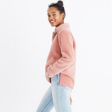 Madewell Pink Sherpa Popover Top