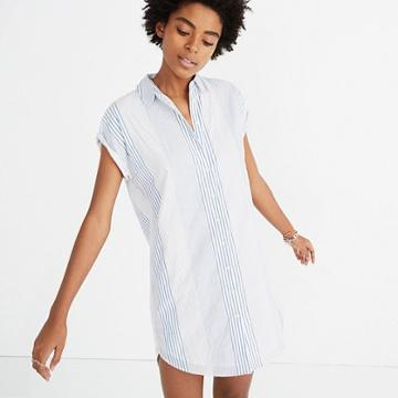 Madewell Central Shirtdress In Rawley Stripe