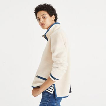 Madewell Sherpa Popover Top