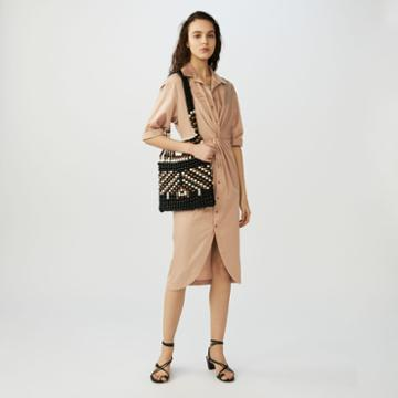Maje Shirt Dress With Fold