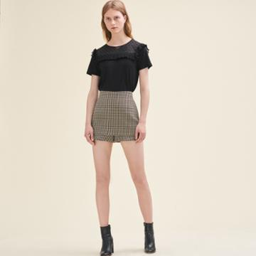Maje Short Checked Shorts