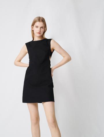 Maje Mini Dress With Openwork Waist